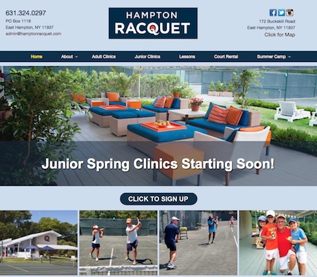 Hampton Racquet - Web design & SEO