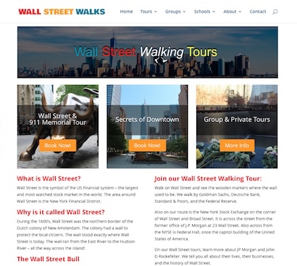 Wall Street Walks - Web design & SEO