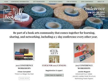 Focus on Book Arts - Web design