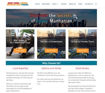 Lower Manhattan Tours - Web design & SEO