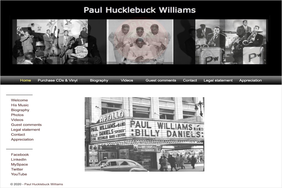 <center>Paul Hucklebuck Williams</center>